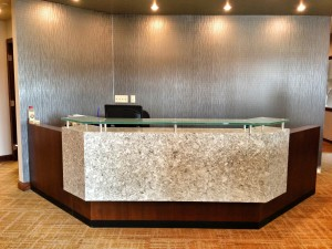 Custom Reception Desk and Commercial Cabinetry