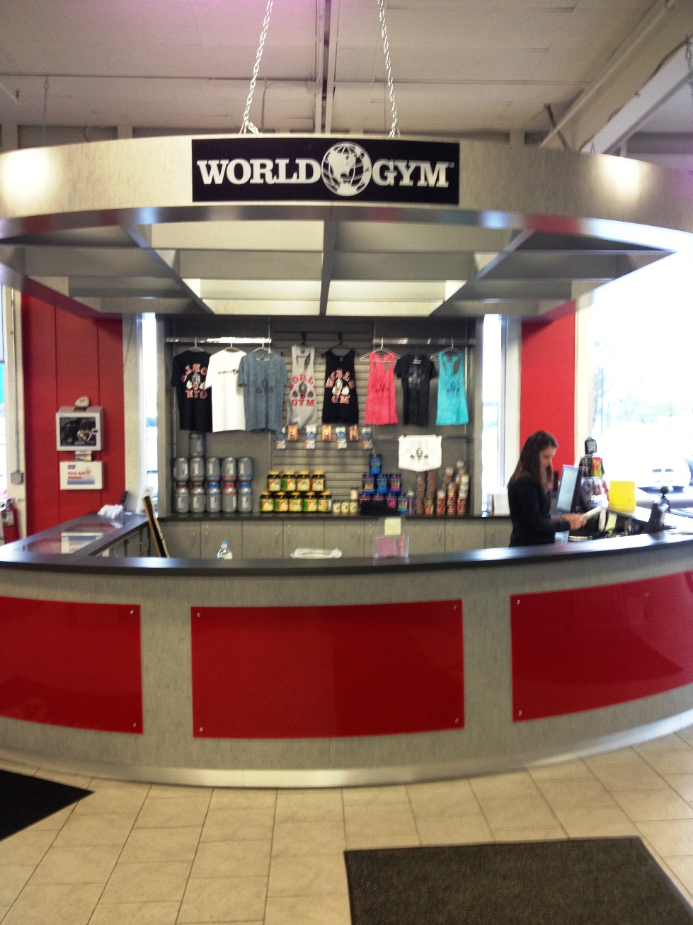 Fitness Center Reception Desk For World Gym Creative