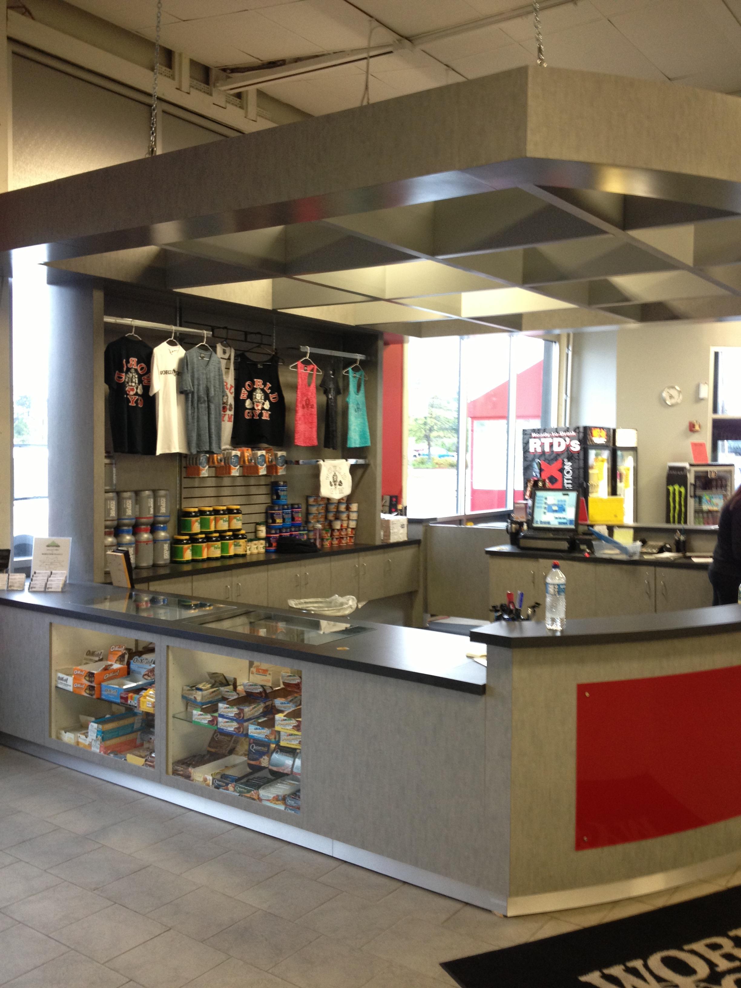 fitness center reception desk for world gym