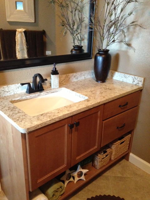 Quartz Countertops Installed In Lake Of The Ozarks Home
