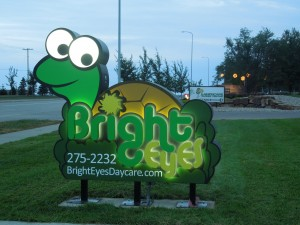 Channel Letter Signage for Bright Eyes Daycare