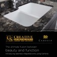 Creative Surfaces offers Integrated Sinks using Cambria