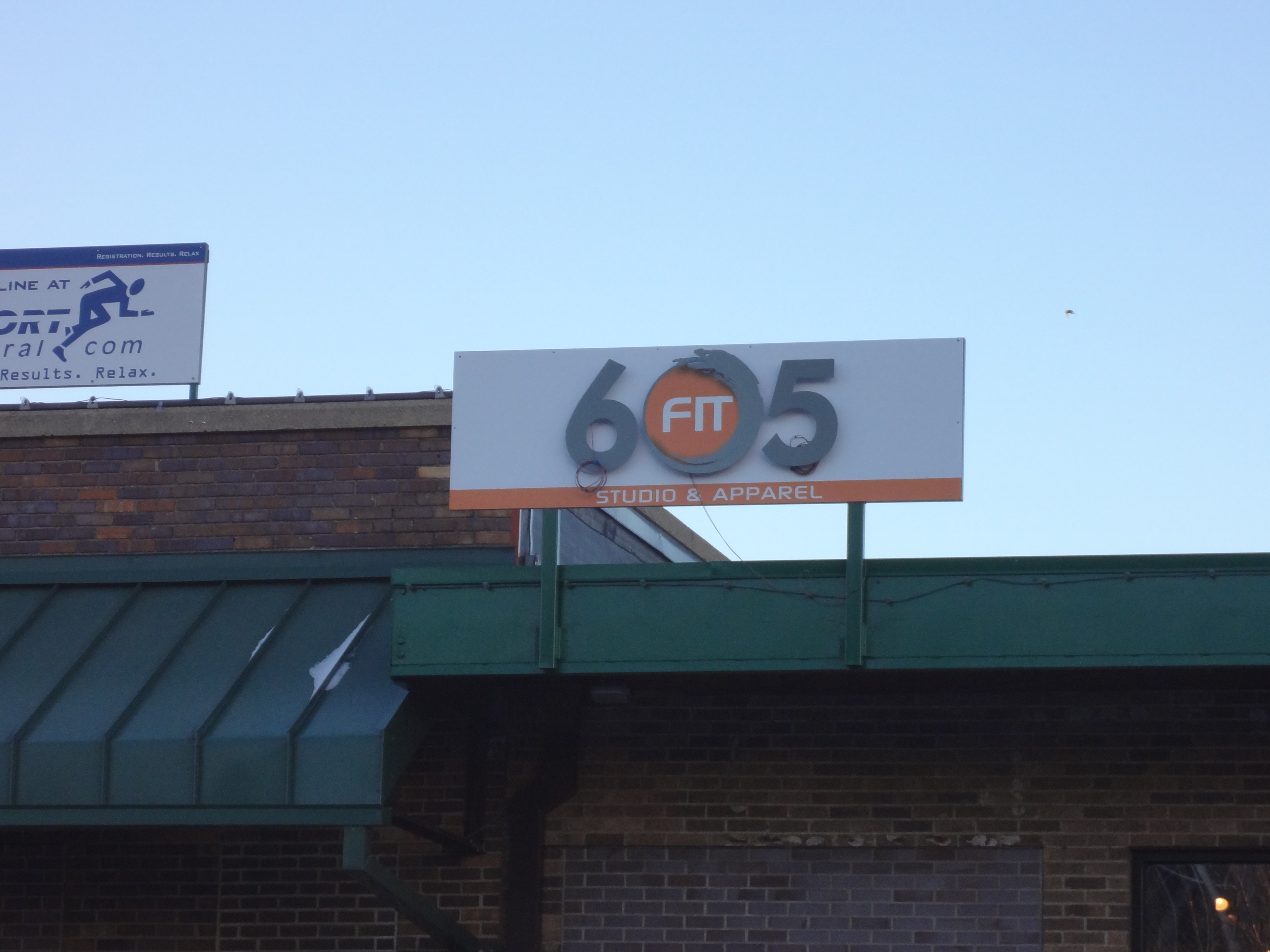 Exterior Commercial Sign For 605 Fit Creative