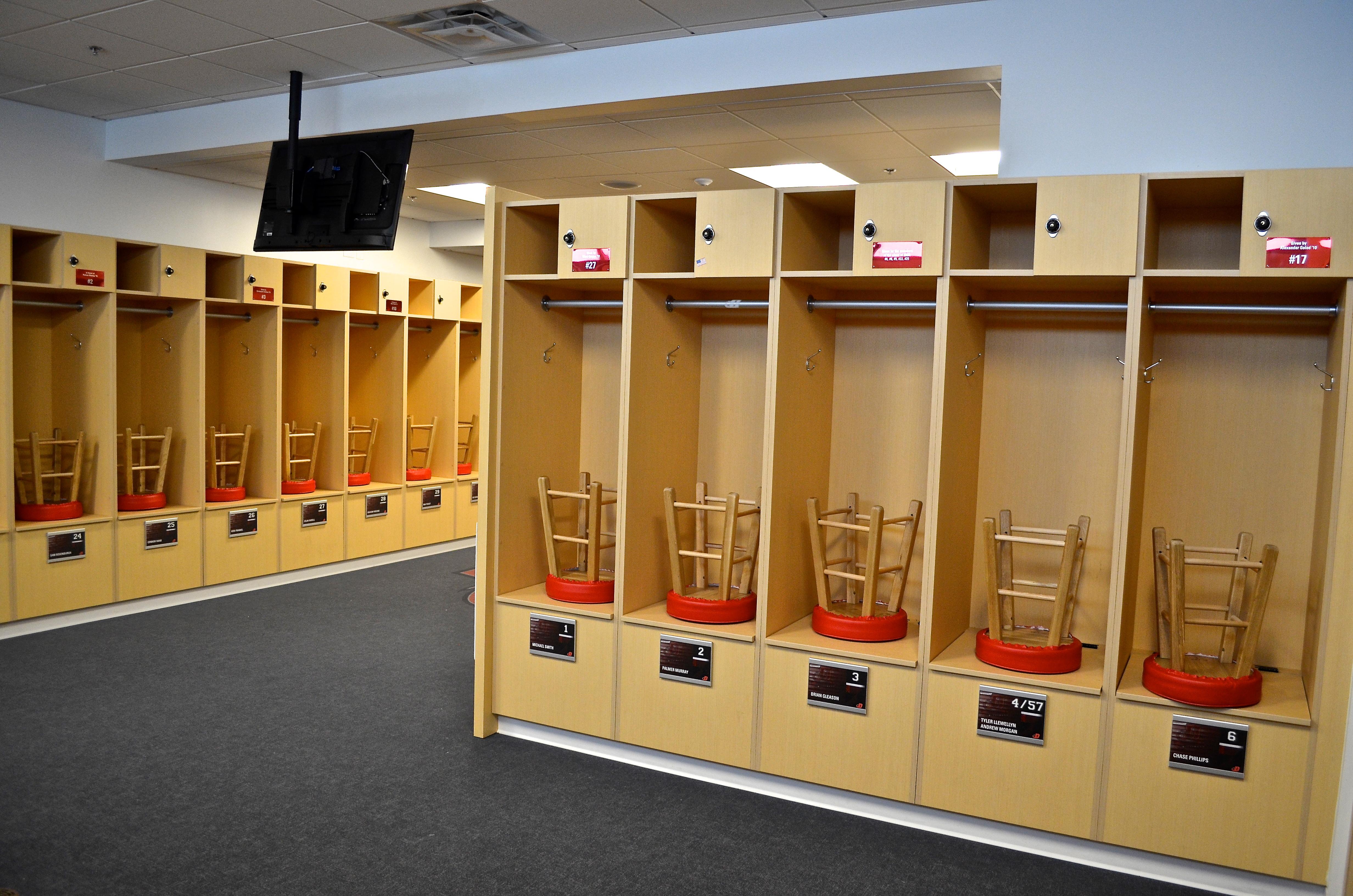 Custom Locker Room Design