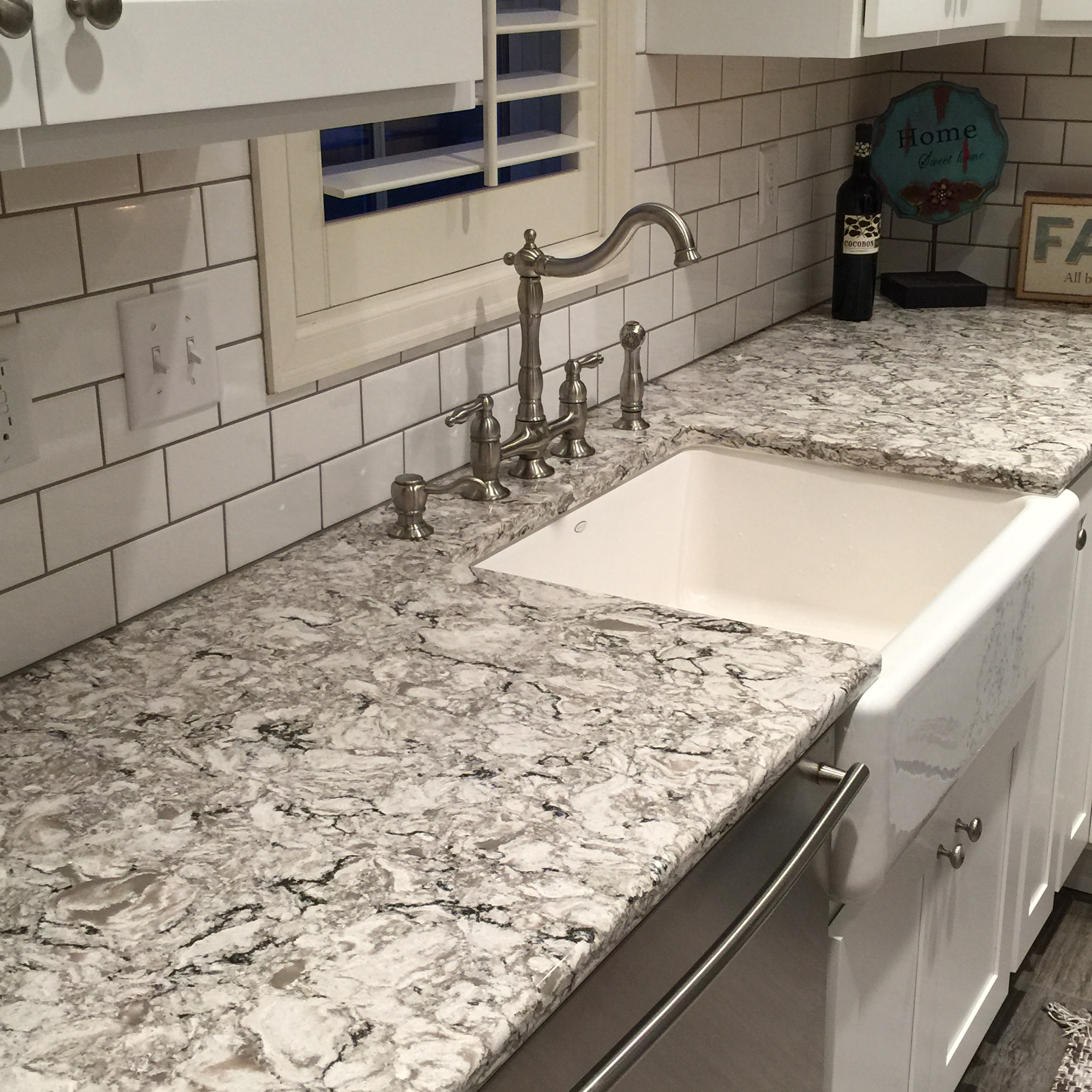 Off White Subway Tile Cambria Bellingham Kitchen Stone Center