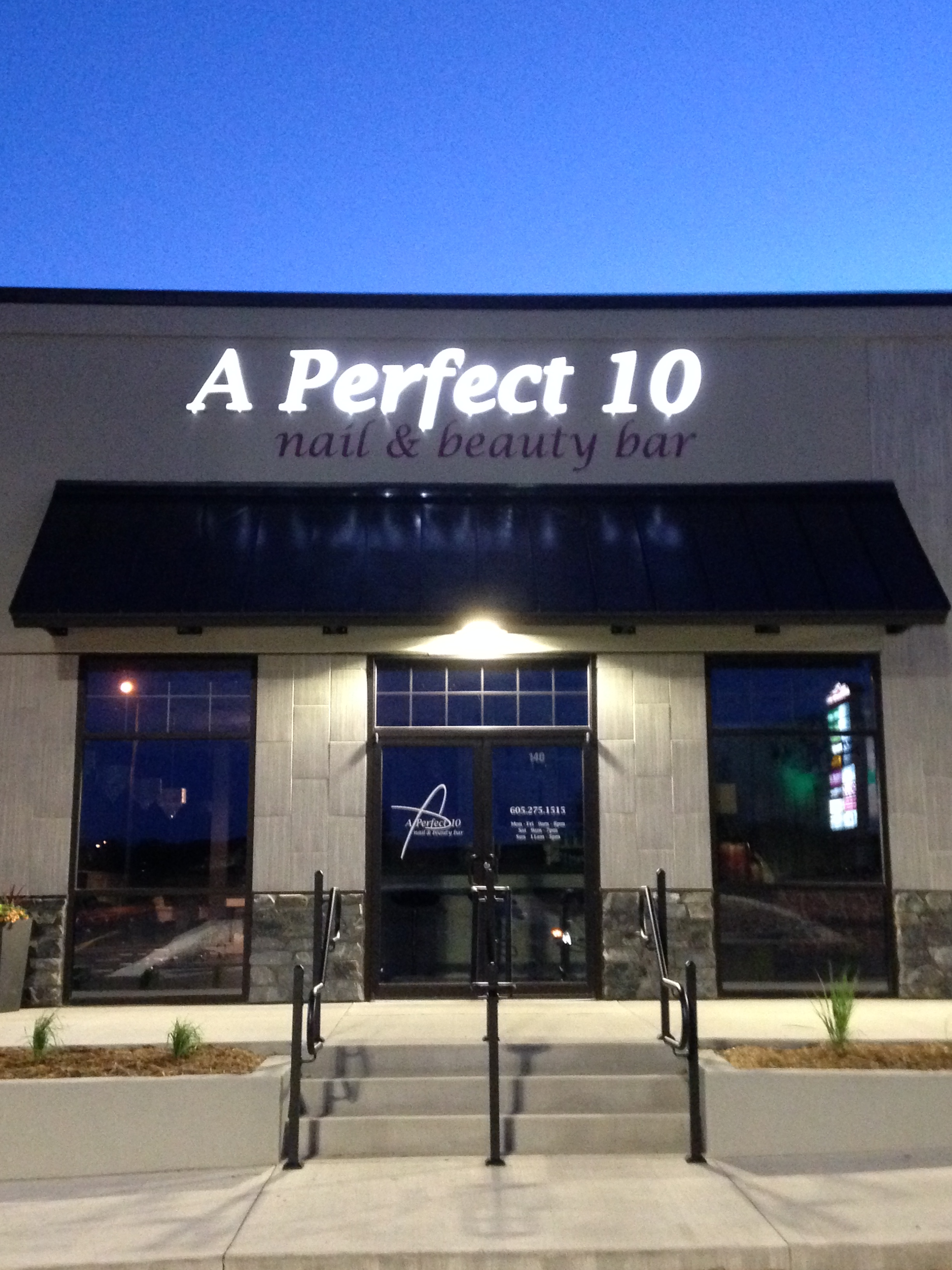 Exterior commercial signage creative surfaces blog for A perfect 10 salon