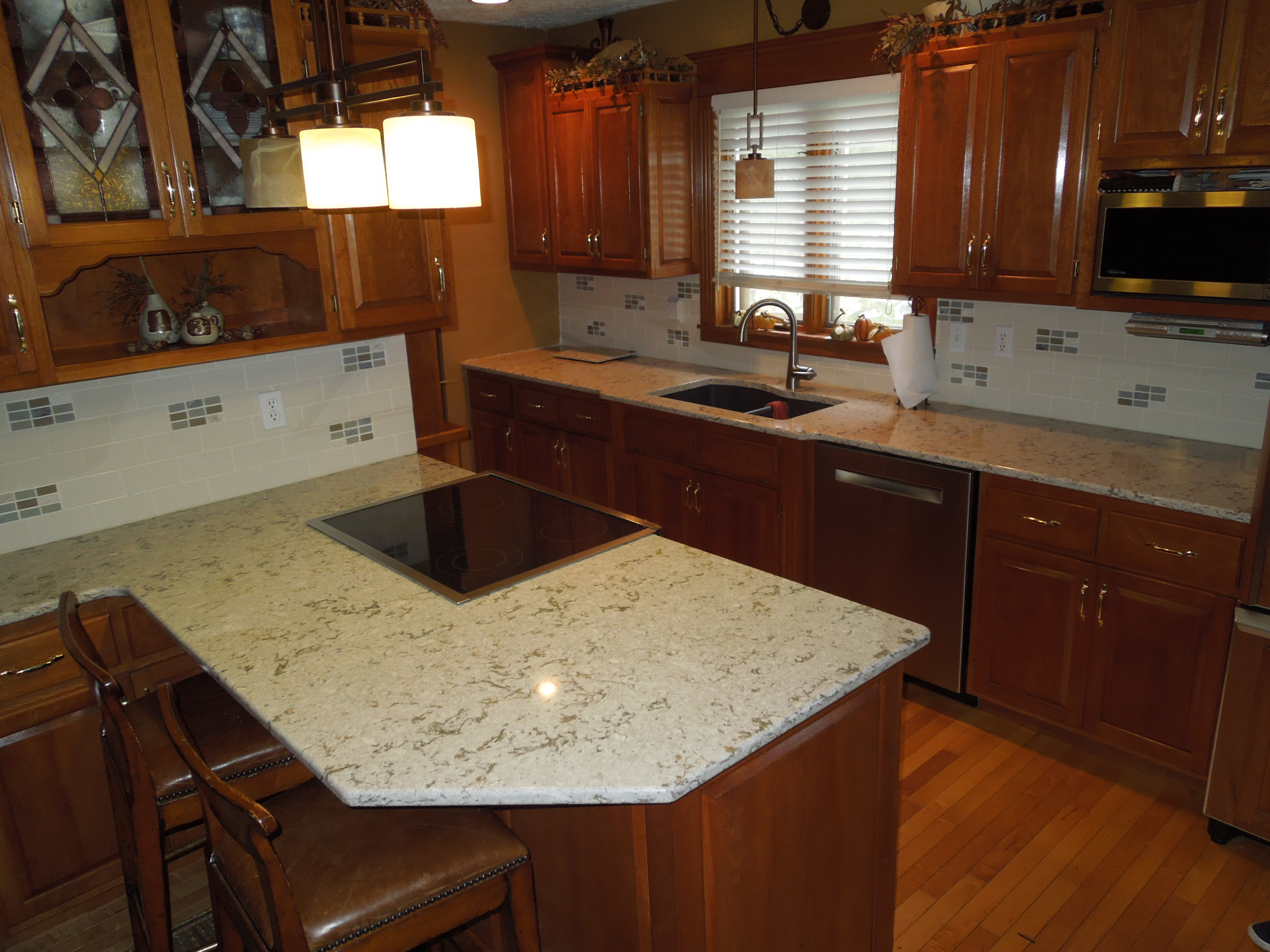 New River Cabinets Typhoon Bordeaux Granite Traditional Kitchen Countertops For Less New