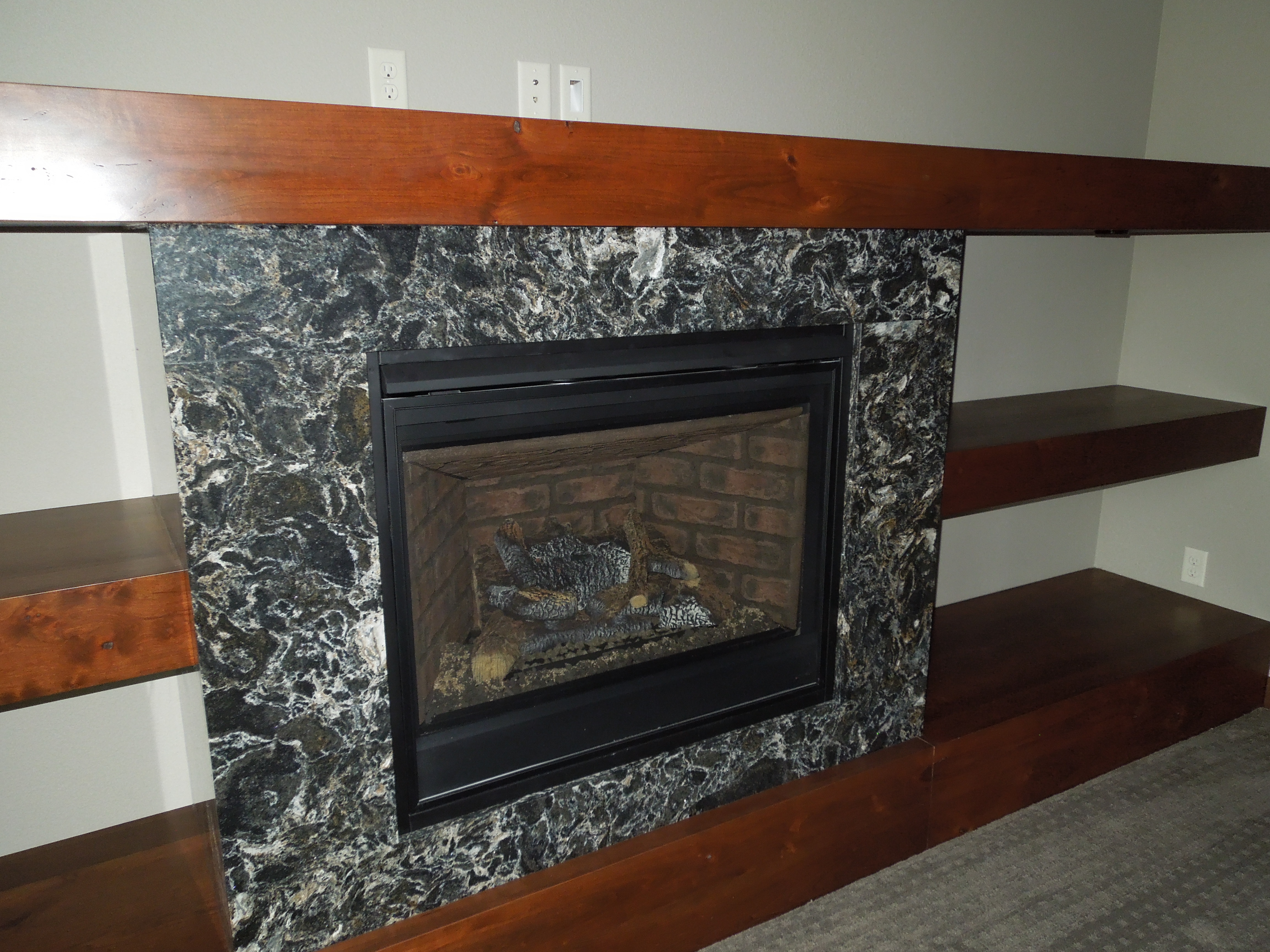 Quartz Fireplace Surround : Cambria quartz fireplace surround ideas