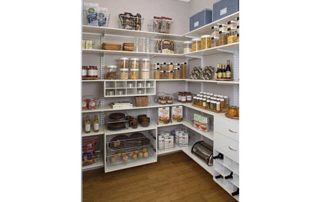 Walk In Pantry Design Ideas black kitchen pantry shelving large pantry walk in with pull out shelves Kitchen Pantry Ideas Creative Surfaces Blog Walk In Pantry Design Ideas